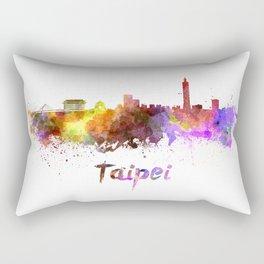 Taipei skyline in watercolor Rectangular Pillow