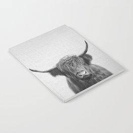 Highland Cow - Black & White Notebook