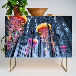 Winter Forest of Electric Jellyfish Worlds Credenza