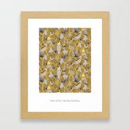 Birds of Prey in Yellow Framed Art Print