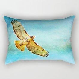 Golden Red Wing Flies the Blue Sky Rectangular Pillow