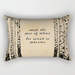 Ralph Waldo Emerson - Pace of Nature Rectangular Pillow