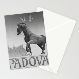retro monochrome ENIT Padova retro poster Stationery Cards
