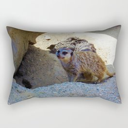 Meerkat saying Hello Rectangular Pillow