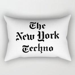 The New York Techno Rectangular Pillow