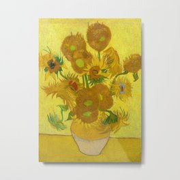 Sunflowers by Vincent van Gogh, 1889 Metal Print