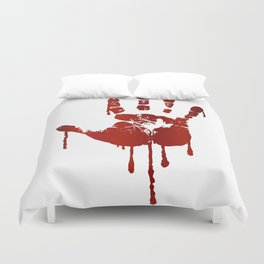 Bloody halloween hand Duvet Cover