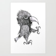 Grouchy Bird Art Print