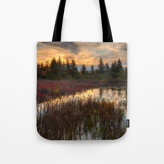 Autumn Dolly Sods Sunset Tote Bag