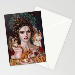 Queen of the Forest Stationery Cards
