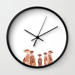Peerkats Wall Clock