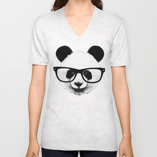 Panda Head Too Unisex V-Neck