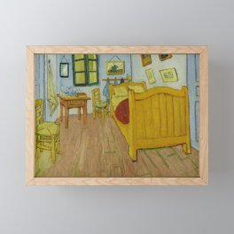 The Bedroom by Vincent van Gogh Framed Mini Art Print