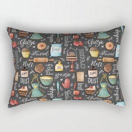 Bake Love Pattern Rectangular Pillow