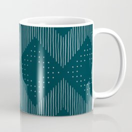 Teal Tribal Coffee Mug