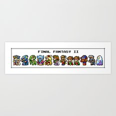 Final Fantasy II Characters Art Print