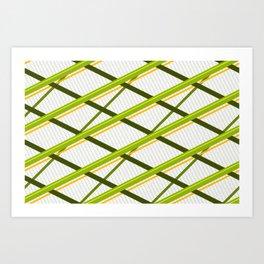 Deco Stripes Avacado Art Print