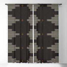 Southwestern Minimalist Black & White Blackout Curtain