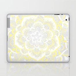 Woven Fantasy - Yellow, Grey & White Mandala Laptop & iPad Skin