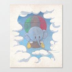 Elephant balloon Canvas Print