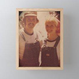 Mom and dad honeymoon Framed Mini Art Print