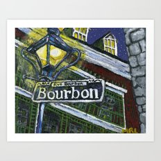 Rue Bourbon Art Print