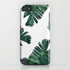 Banana Leaf Watercolor Pattern #society6 iPod touch Slim Case