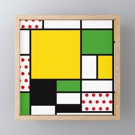 Mondrian – Bycicle Framed Mini Art Print