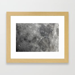 craters on the moon Framed Art Print