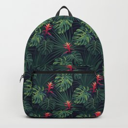 Tropical pattern with Guzmania flowers Backpack