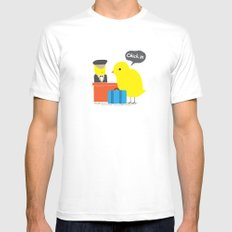 Chick in! MEDIUM Mens Fitted Tee White