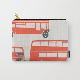 London Double Decker Red Bus Carry-All Pouch
