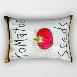 Tomatoe Seeds Rectangular Pillow