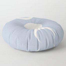Moon Minimalism - Blue Floor Pillow