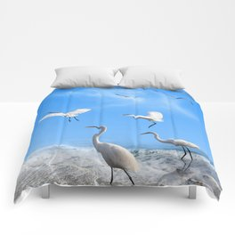 White Egrets in a Morning Comforters