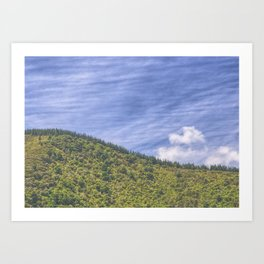 Wavy Mountains Art Print