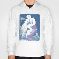 bee and puppycat Hoodies featuring bee and puppycat retro movie poster by Eva Puyal