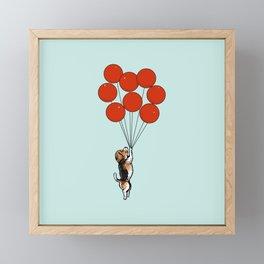 I Believe I Can Fly Beagle Framed Mini Art Print
