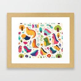 Funny dinosaurs Framed Art Print