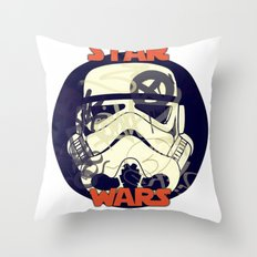 Bucket Art Throw Pillow