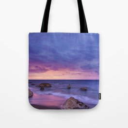 Ocean Beach Dusk Sunset Photography Tote Bag
