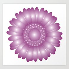 CVF0079 Sunflower Purple Art Print