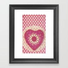 Crochet Valentine Framed Art Print