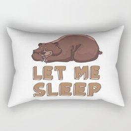 Let me sleep Rectangular Pillow