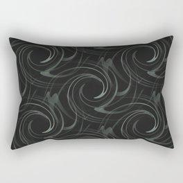 Black Swirl Rectangular Pillow