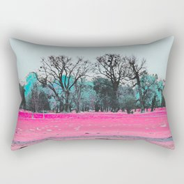 This is what happens when you cover an entire garden with fluorescent ink. Rectangular Pillow