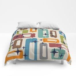 Retro Mid Century Modern Abstract Pattern 224 Comforters