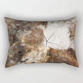 Tree Stump Ring Rectangular Pillow