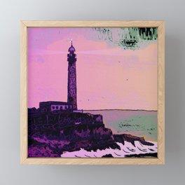 Golden Hours / Lighthouse Barlovento La Palma Framed Mini Art Print