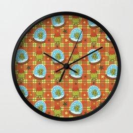 Cactus in a Snow Globe Wall Clock